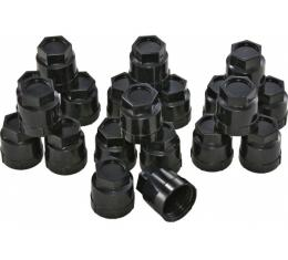 Corvette Plastic Lug Nut Caps, Black, Factory Style, 1984-1985