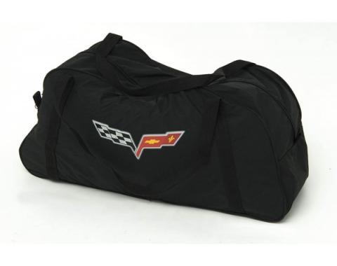 Corvette Duffle Bag, Black, With C6 Logo