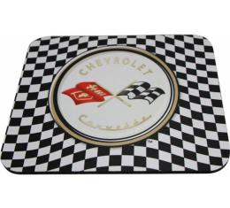 Corvette Mouse Pad,C1 Logo,Checker Board