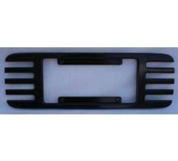 Corvette Rear License Plate Frame, Billet Aluminum, Black Powder Coated, 1997-2004