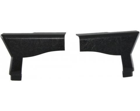 Corvette Lock Pillar Covers, Upper, Convertible, 1990-1993