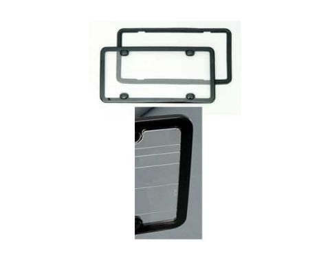 Corvette Clean Plate License Frame, Black, Altec