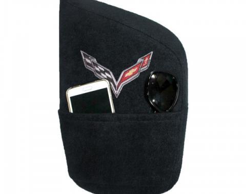 Seat Armour 2014-2018 Corvette Konsole Cover™ with Pocket, Black KACORC7B