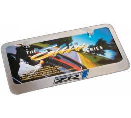 Corvette License Plate Frame, Elite Series, With ZR1, Chrome Engraved