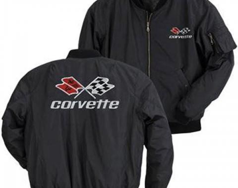 Corvette Jacket, Aviator, Black, With C3 Logo