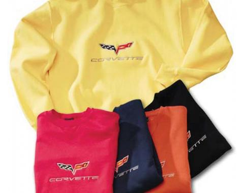 Corvette Sweatshirt, C6 Embroidered, Daytona Sunset Orange