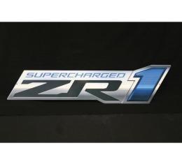 Corvette Metal Sign, ZR1 Supercharged Logo, C6