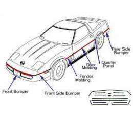 Corvette Body Molding Kit, Complete, 1985-1990