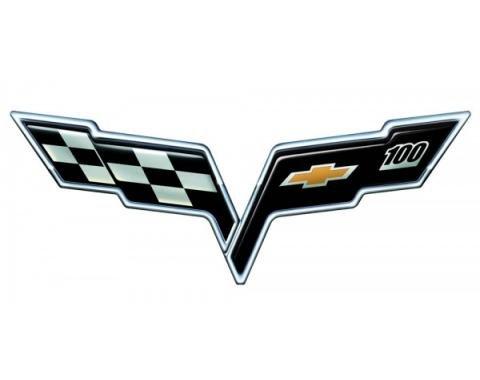 "Corvette C6 Metal Sign, 100th, 32"" x 12"""