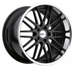 Corvette Wheel, Cray Hawk, 20x10'', Gloss Black With Chrome Stainless Lip, 2014-2017