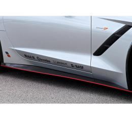 Corvette Concept7 Carbon Fiber Rocker Panels, 2014-2017