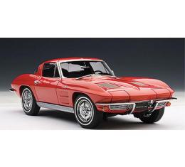 Corvette Model, Die Cast, 1/18th Scale, Riverside Red Coupe, 1963