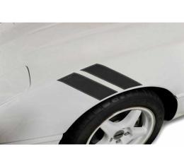 Corvette Fender Accent Stripes, Black With LT1 Script, 1984-1996