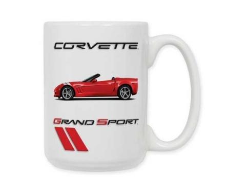 Corvette Mug,15oz Ceramic With Grand Sport Image