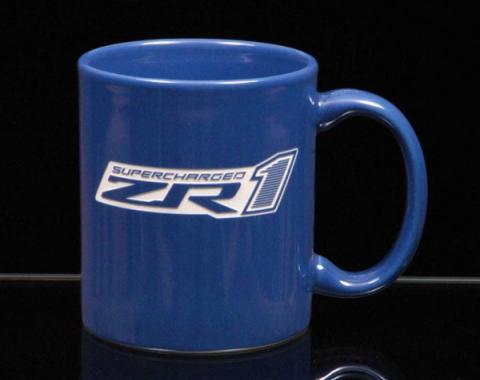 Corvette 11 Ounce Coffee Mug, C-Handle, Royal Blue, 1953-2013