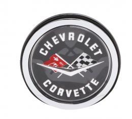Trim Parts 62 Corvette Rear Emblem Assembly, Trimmed in Silver, Each 5087AS