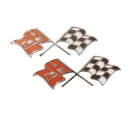 Trim Parts 57 Full-Size Chevrolet Fuel Injection Front Fender X-Flags, Pair 1450
