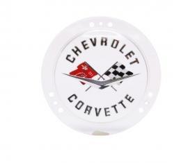 Trim Parts 58-60 Corvette Front and 58-62 Rear Emblem, Service Silver, Each 5090S