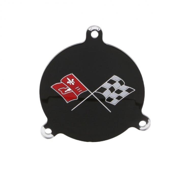 Trim Parts 65-66 Corvette Spinner Emblem, White Upper Left Hand, Each 5072
