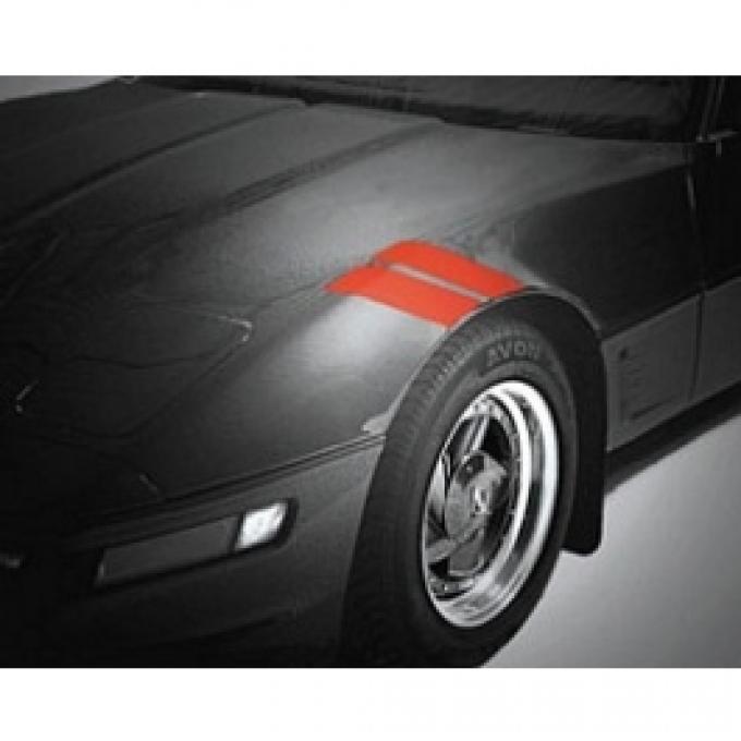 Corvette Fender Accent Stripes, Front, Red, 1984-1996