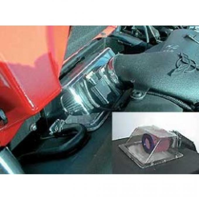 Corvette Cold Air System, BPP Vortex Rammer, With Clear Cover, 1997-2000