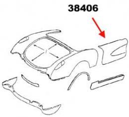 Corvette Door Skin, Outer, Right, 1956-1960