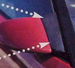 Corvette Mirror Wind Noise Deflectors, 1984-1996