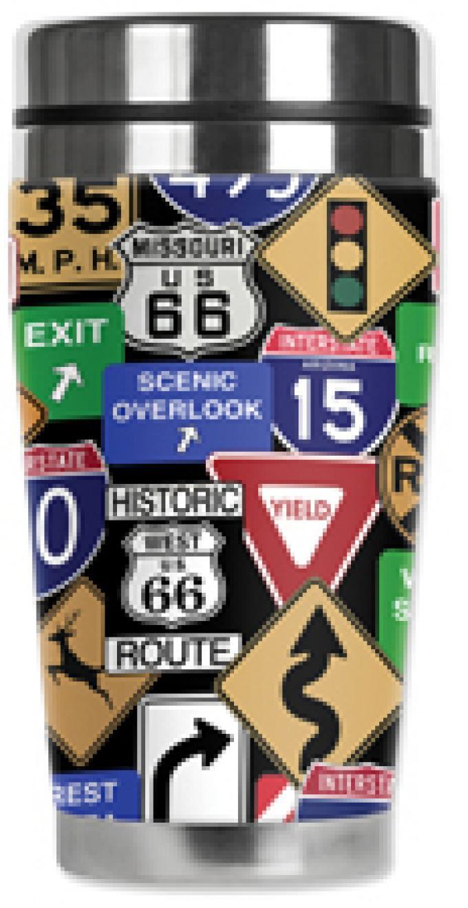 Mugzie® brand Travel Mug - Highway Signs