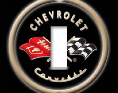 Black Logo Corvette Switchplate