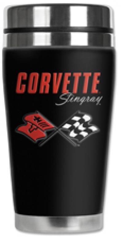 Corvette Mugzie® brand Travel Mug - Corvette C3 Stingray Logo