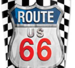 Mugzie® brand Travel Mug - Checkered Flag Route 66