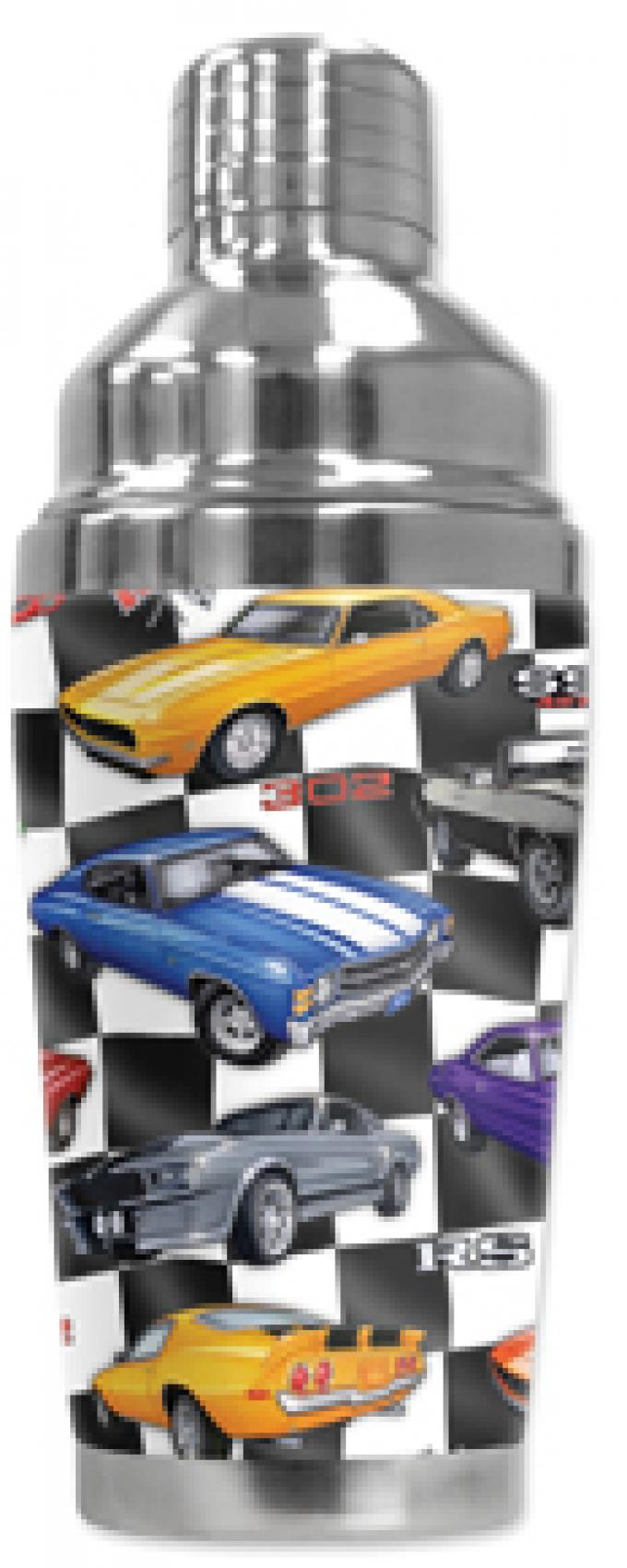 Mugzie Cocktail Shaker, Hot Or Cold, 60's Hot Rod