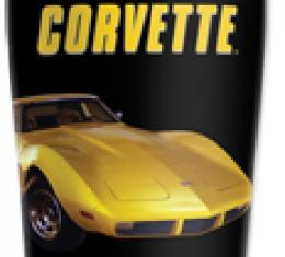 Corvette Mugzie® brand Travel Mug - Yellow Corvette
