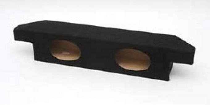 Corvette Custom Boom Box, Without Speakers, Black, 1968-1977