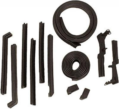 Corvette Convertible Top Weatherstrip Kit, 12 Piece, USA Made, 1961-1962