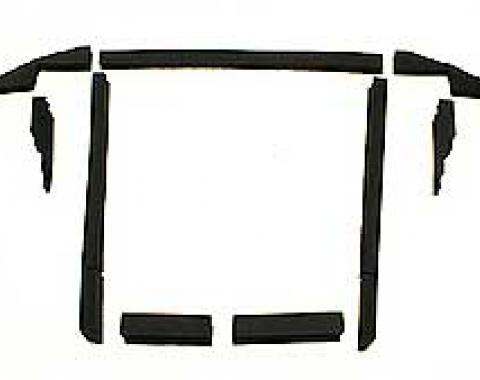 Corvette Radiator/Fan Shroud Seal Kit, L48, Without Air Conditioning 1980 or Without Heavy Duty Radiator, 1981