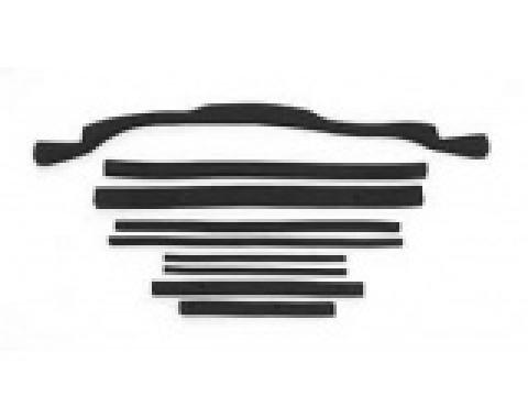 Corvette Radiator/Fan Shroud Seal Kit, Small Block, With Plastic Shroud & Copper Radiator, 1972