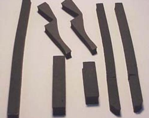 Corvette Radiator/Fan Shroud Seal Kit, With L82 or Air Conditioning, 1978