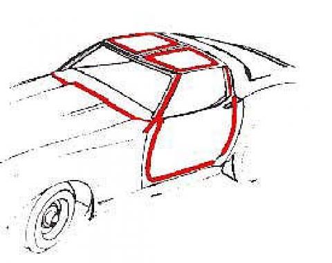 Corvette Coupe Body Weatherstrip Kit, Import, 1978-1982