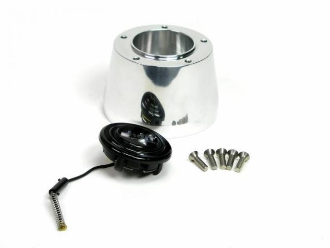 ididit Steering Wheel Adaptor, 5 Bolt, Polished 2207310040