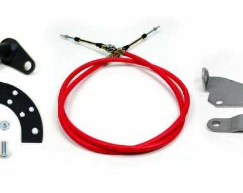 """ididit Cable Shift Linkage, Ford 2 1/4"""" Column - C6 Transmission 2802450010"""
