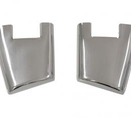 Corvette Door End Caps, without Hole, Left, (58 Early), 1956-1958