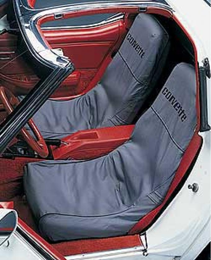 "Corvette Slipcovers, Black, ""Seat Saver"", Covercraft, 1970-1978"