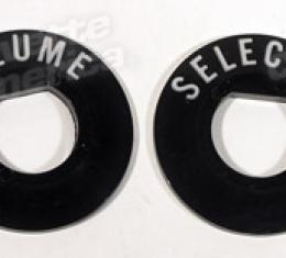 Corvette Radio Indicators, Volume/Selector, 1956-1957