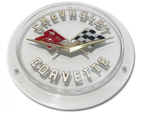 Trim Parts 58-60 Corvette Front and 58-62 Gold Rear Emblem, Each 5090