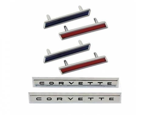 Trim Parts 61 Front Fender Emblem Kit, Corvette, 6 Pieces 5154A