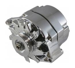 Corvette Alternator, 85 Amp Chrome Powermaster, 1969-1982