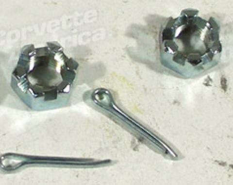 Corvette Upper Ball Joint Nut/Cottr Pin Set, 1963-1982
