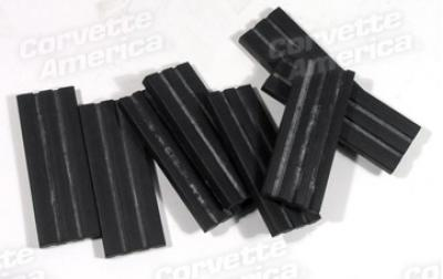 Corvette Body Mount Pads, Rubber Ribbed, 8 Piece, 1953-1962