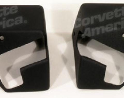 Corvette Top Storage Bracket Covers, Black, 1989-1996